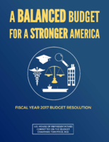 FY17 House Budget Resolution