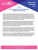 CLPHA 2019 Legislative Priorities